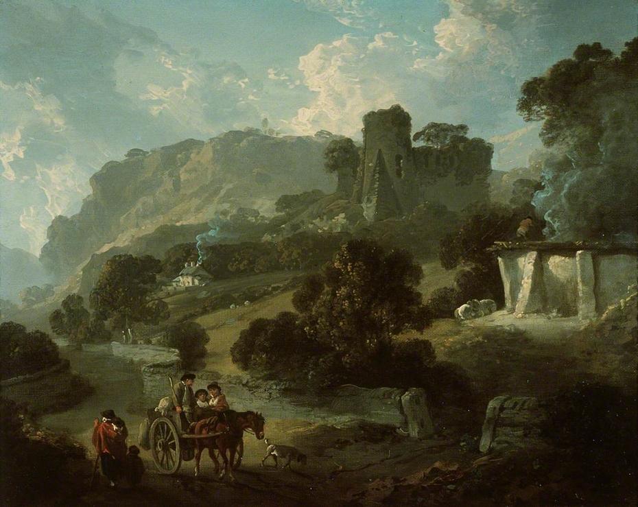 Return from Market, Castell Coch