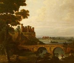 River Landscape with Castle and Bridge