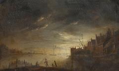 River Scene at Night