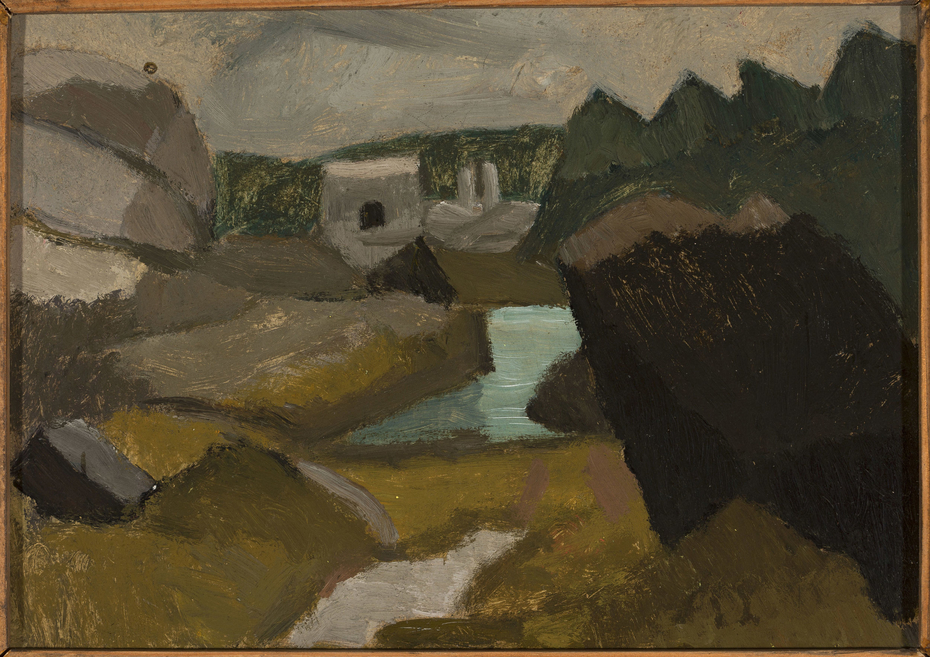 Rocky landscape with water