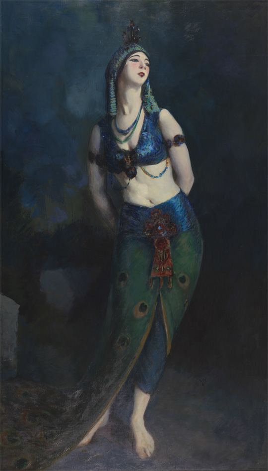 Ruth St. Denis in the Peacock Dance