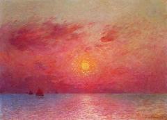 Sailboats at Sea, Evening