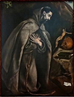 Saint Francis in Prayer before a Crucifix