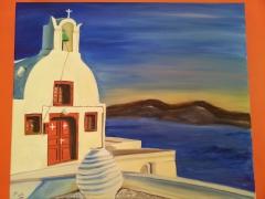 santorini 3,oil on canvas