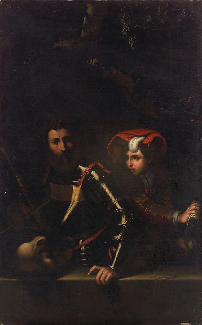 Saul und David mit dem Haupt des Goliath