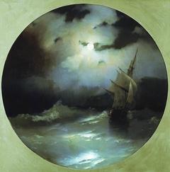 Sea on a Moonlit Night