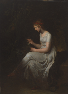Seated Woman Plucking a Flower