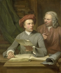 Self Portrait. Standing beside the Artist is his Father and Teacher Jan Maurits Quinkhard (1688-1772)