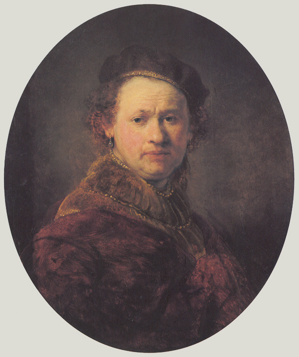 Self-portrait with Beret and Red Cloak