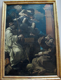 St. Francis in Ecstasy with St. Benedict and an Angel