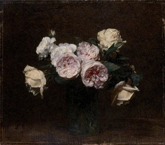Still Life: Pink, white and yellow Roses