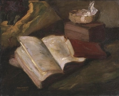 Still life with a red book