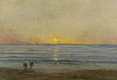 Sunset near Villerville