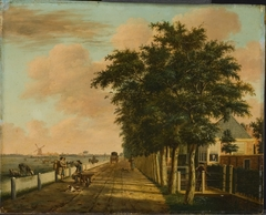 The Amsterdamse Vaart with the Horse-Drawn Barge Path at Haarlem, Seen in the Direction of the Liede
