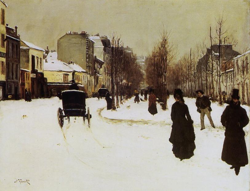 The Boulevard de Clichy under Snow