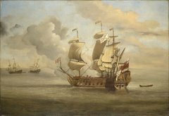 The End of the Action between the English Indiaman and Three Spanish Privateers