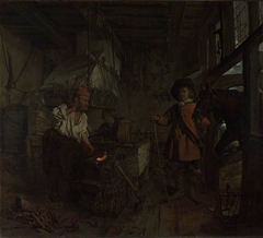The Interior of a Smithy