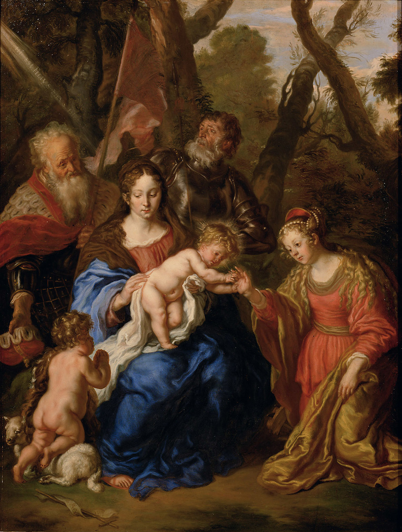 The Mystic Marriage of Saint Catherine of Alexandria with Saints Leopold and William