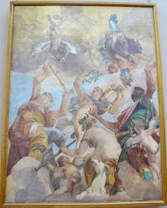 The Olympians: Jupiter, Apollo, Diana and Mars