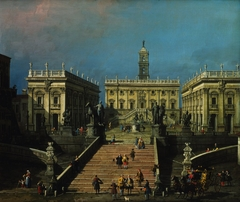 The Piazza del Campidoglio and the Cordonata