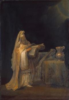 The prophet Zachariah in the temple