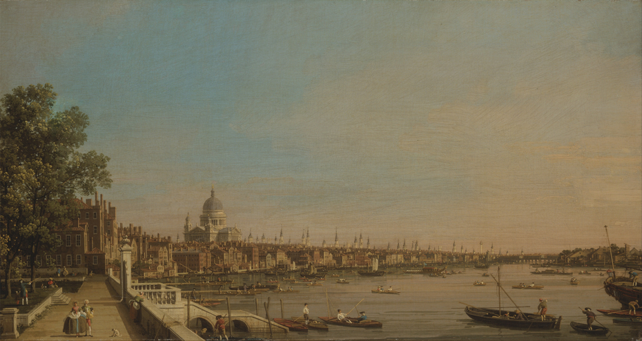 The Thames from the Terrace of Somerset House, Looking toward St. Paul's