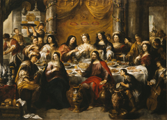 The wedding at Cana: Jesus blesses the water