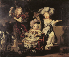 Three Children in a Landscape - 1677
