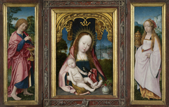 Triptych with the Virgin and Child (centre panel), St John the Evangelist (inner left wing) and Mary Magdalen (inner right wing)