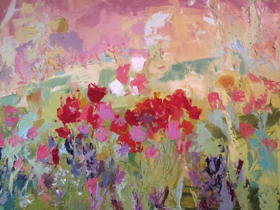 Tulips and Poppies. 2008.cm.100x80 by ANNA ZYGMUNT