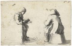 Twee zittende soldaten