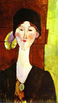 Portrait of Beatrice Hastings before a door