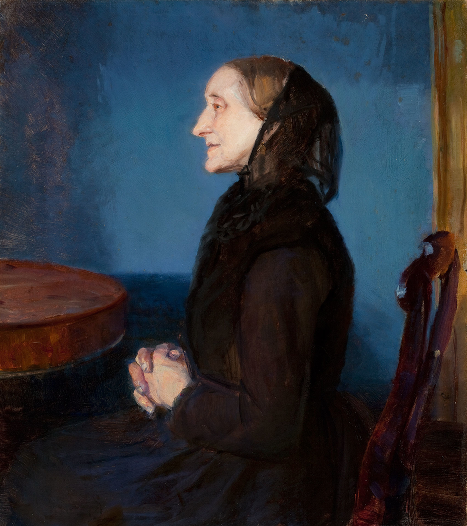 Painting by Anna Ancher of her mother