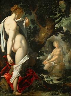 Hermaphroditus und die Nymphe Salmacis