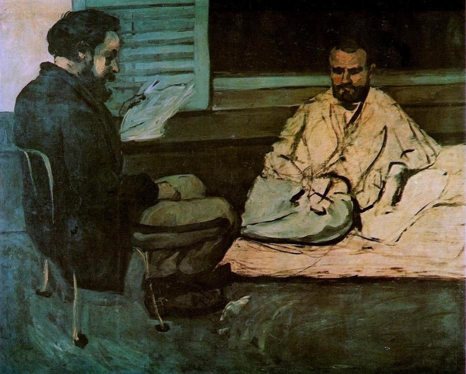 Paul Alexis reading to Émile Zola