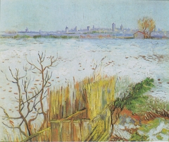 Landscape in the snow with Arles in the Background