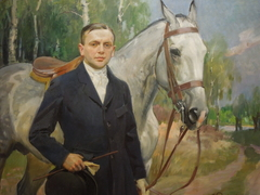 Portrait of Bronisła Krystall with a Horse