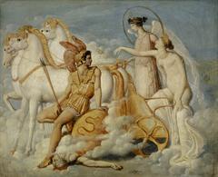 Vénus blessée par Diomède remonte à l'Olympe