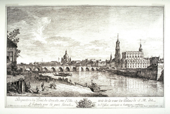 View from the Bridge of Dresden on the Elbe