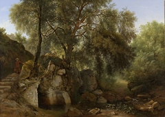 View in the Park of the Villa Chigi at Ariccia