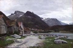 View of Loen in Nordfjord