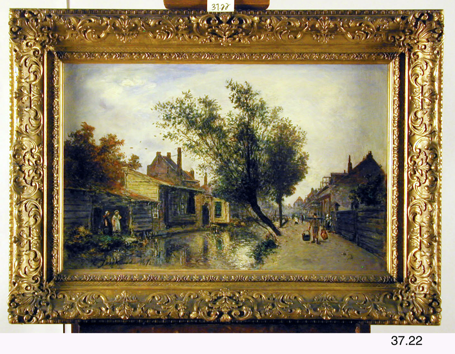 Village Street with a Canal