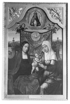 Virgin and Child Enthroned with Saint Anne