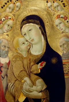 Virgin and Child with Saints Jerome and Bernardino of Siena and Six Angels