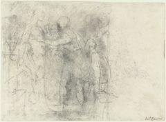 Vluchtige schets voor de apostel Thomas