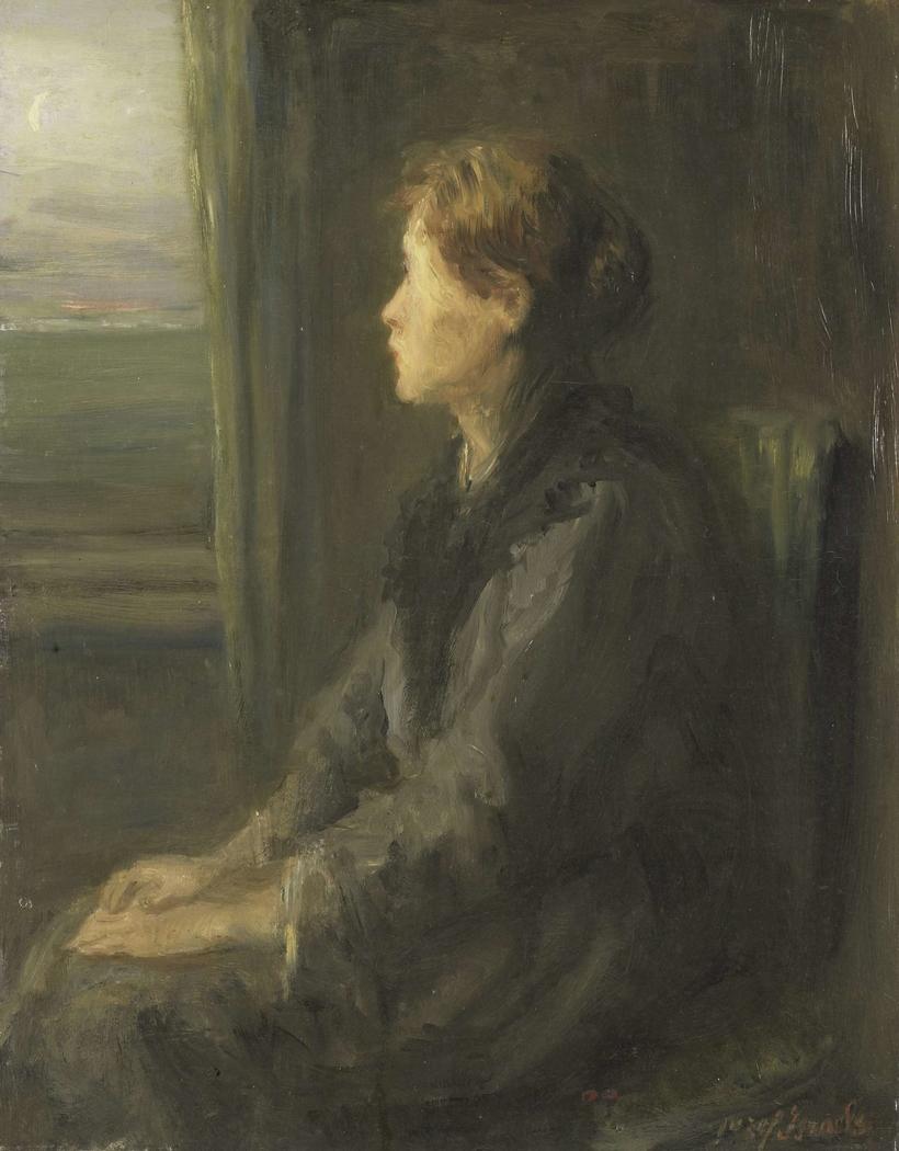 Vrouw aan een raam