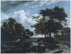 Wooded Landscape with a Pond and Shepherds