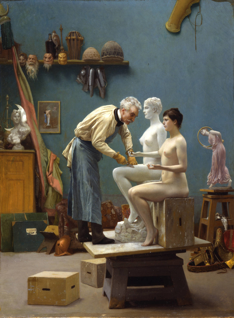 Working in Marble, or The Artist Sculpting Tanagra