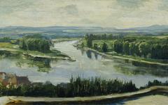 Zusammenfluss von Moldau und Elbe
