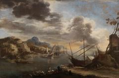 A harbour scene